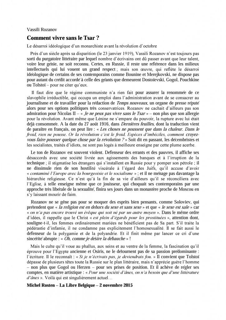 Vassili rozanov - Vente viager libre belgique ...