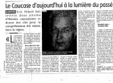 Presse_Hoesli_Caucase_La Montagne 2006