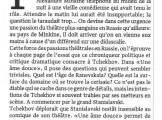Presse_Minkine_Tchekhov_Le Matin Dimanche 2014