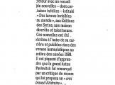 Presse_Tchekhov_Larmes_Le Point 2006